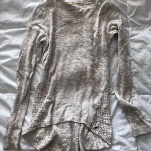 Hollister heather grey sweater